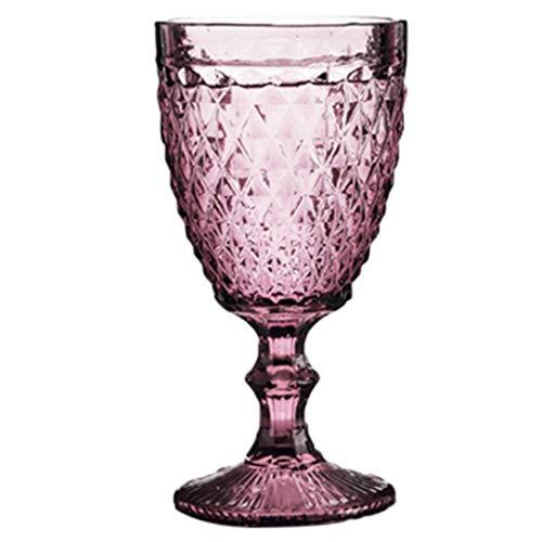 QSMIANA Taza Copa De Copa De Vino Relieve De Vintage Retro Taza De Vino Tinto 300 Ml Grabado De Grabado Jugo Jugo De Bebida Vidrios Champagne Cubiletas Surtidas