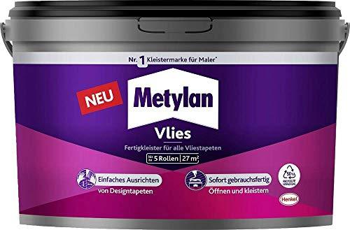 Metylan Vlies Fertigkleister, feuchtigkeitsbeständiger Tapetenkleister für Vliestapeten, Kleister zum einfachen Tapezieren, 1x5kg