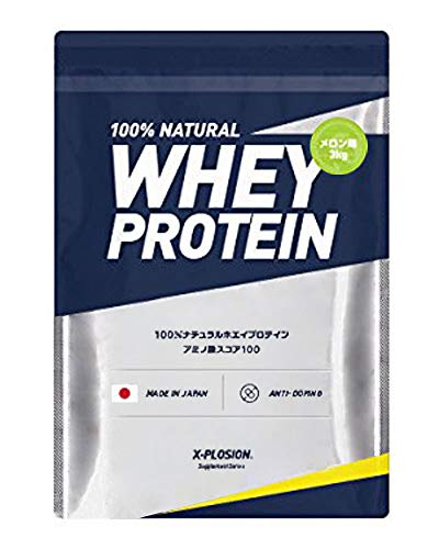 Explosion Whey Protein, 6.6 lbs (3 kg), Approx. 100 Servings, Melon Flavor, Large Capacity, Made in Japan
