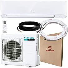 DAIKIN 17 SEER 9,000 BTU Wall-Mounted Ductless Mini-Split A/C Heat Pump System Maxwell 15-ft Installation Kit (230V) 10 Year Limited Warranty (9,000 BTU_208-230V)