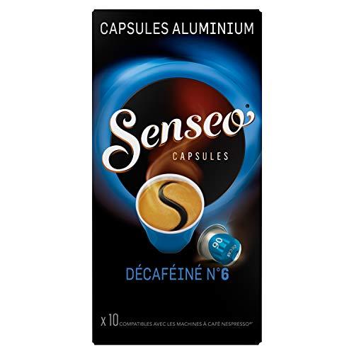 Senseo Capsules Décaféiné N°6 10 Capsules en Aluminium Compatibles avec les Machines Nespresso 52 g