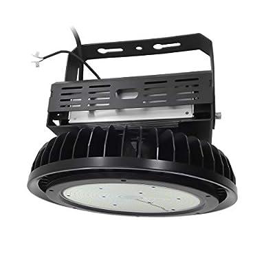 Adiding LED High Bay Light,150W UFO Hi-Bay Lighting 130Lm/W Sosen Driver Dimmable 5000K,Lumileds SMD 3030 LED for Garage Workshop Warehouse,UL Listed,IP65,Black