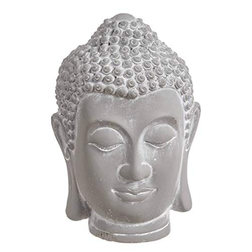 Dekorative Figur Kopf Buddha aus Zement, 19 cm