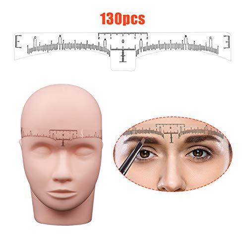 Locisne Augenbrauen-Tätowierungs-Machthaber, 130Pcs Wegwerfaugenbrauen-Machthaber-Aufkleber, klebendes Augenbrauen-Microblading-Machthaber-Führer-Maß-Werkzeug für Make-up