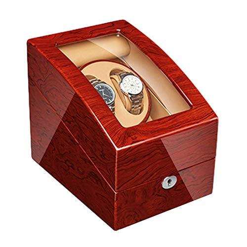 GLXLSBZ Enrollador automático para reloj con motor silencioso, acabado en madera maciza, plano con 4 ajustes de modo de rotación para reloj de pulsera de mujer (tamaño: 2 + 3)