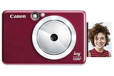 Canon IVY CLIQ+ Instant Camera Printer, Smartphone Photo Printer Via Bluetooth(R), Ruby Red