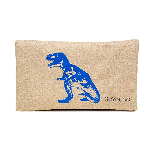 SoYoung Splatter No Sweat Ice Pack   Non-Toxic   Removable Liner   Stylish and Washable (Blue Dinosaur)