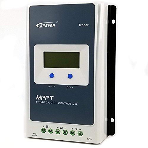 Regolatore di carica solare EPever Tracer AN 30A MPPT 100V PV Display LCD con regolatore di messa a terra negativo a massa Elevata efficienza di tracciamento fino al 98% (Tracer 3210AN 30A)