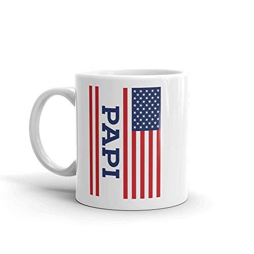 Amerikanische Flagge Papi Einzigartige Keramik Kaffeetasse / Tasse & mdash; Geburtstag Vatertag für Papa Vater Opa