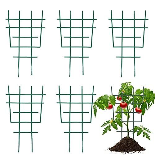 JAHEMU Pflanzenstütze Garten Rankgitter Plastik Blumenstütze Gitterspalier Topfpflanzen Rankgitter Pflanzkübel Pflanzenkäfige, 6 Stück