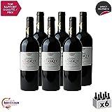 Château Glorit Rouge 2015 - Appellation AOC Côtes de Bordeaux Blaye - Vin Rouge de Bordeaux - Cépages Merlot, Cabernet Franc, Cabernet Sauvignon - Lot de 6x75cl - Médaille d'Or Concours de Bordeaux