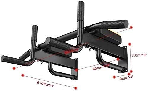Review Of Lxhff Pull Up Bars Wall Mounted Chin Up Bar with Hangers for Power Ropes Strength Training...