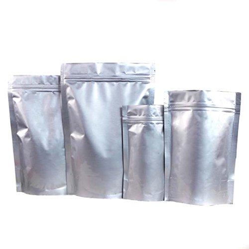 Druckverschlussbeutel aus Aluminium für Nüsse, Kaffee, Bohnen, Tee, Blatt und mehr, 14 x 19 cm, 20 Stück