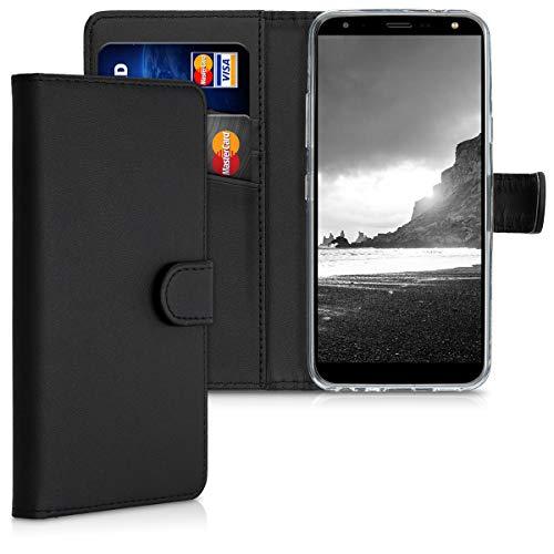 kwmobile Funda Compatible con LG K40 - De Cuero sintético - Case con Tarjetero en Negro