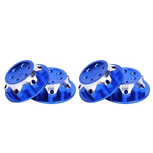 Semiter 4pcs Tuerca de llanta RC, Tuerca de neumático a Prueba de Polvo, Piezas de automóvil de Control Remoto Aleación de Aluminio de Alta confiabilidad para A-Gama(Navy Blue)