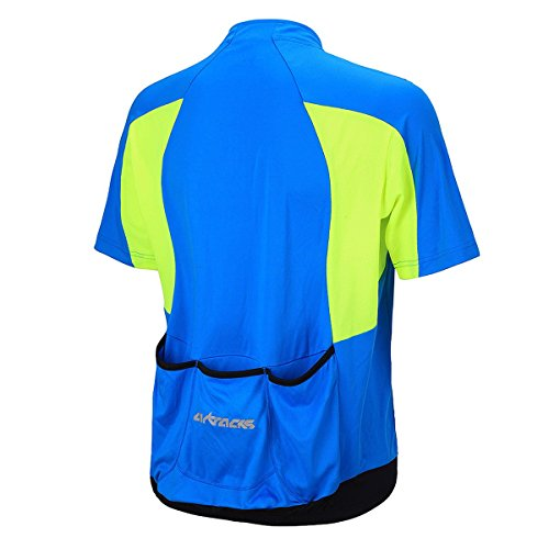 Airtracks FUNKTIONS Fahrradtrikot/RADTRIKOT/Jersey/Kurzarm PRO T - blau-neon - S - 2