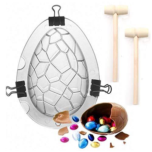 Stampo per uova pasquali, 3D, grande forma di uovo di dinosauro, stampo gigante per uova di struzzo, torta di cioccolato fondente, uova di Pasqua, stampi per cioccolato, gelatina,confezione da