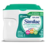 Similac For Supplementation, 4 Tubs, Gentle Non-GMO Infant Formula,...