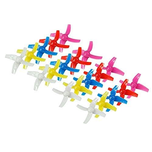Maquer Accessori per droni Set di eliche a 4 Pale da 20 Pezzi e 48 mm per quadricottero con Drone 8X Rc Tiny