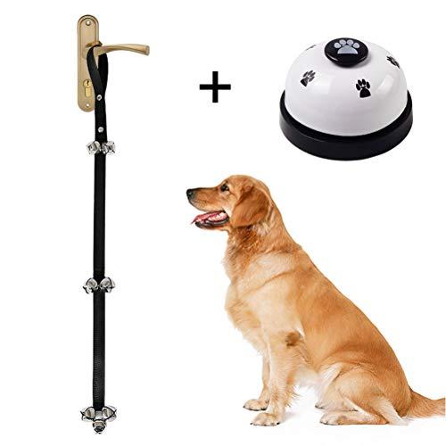 nuosen Verstellbare Hunde-Türklingel und Druckglocke für Hunde mit Klingel zum Trainieren von Hunden aus Nylon und Stahl