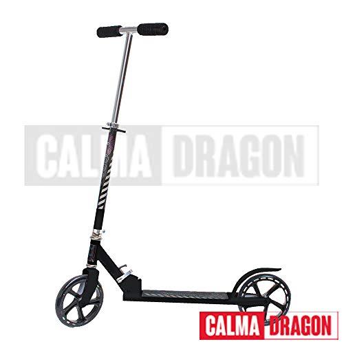 Calma Dragon Patinete YX-S17 Ruedas Grandes 200mm diametro, para Niños y Adultos, Scoter (Negro)