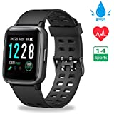 Smart Watches, Fitness Trackers Full Touch Screen Fitness Watch IP68 Waterproof Activity Tracker for Men Women with Heart Rate Sleep Monitor SMS Call Notification Pedometer for iOS Android iPhone