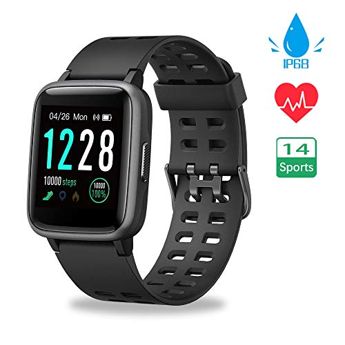 Vicsainteck Smartwatch Orologio Fitness Tracker Uomo Donna Sportivo Impermeabile IP68 Bluetooth Smart Watch Cardiofrequenzimetro da Polso Smartband Activity Tracker Contapassi Calorie per Android iOS