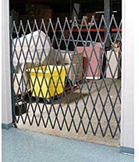 6-1/2`W Single Folding Security Gate, 6-1/2`H