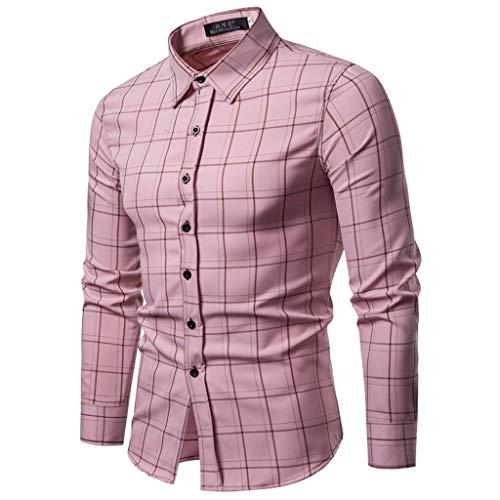 TEFIIR T-Shirt für Frauen, Oktoberfest, Leistungsverhältnis Herrenmode Business Freizeit Plaiddruck Langarmhemd Tops Bluse Geeignet für Freizeit, Dating, Strandurlaub