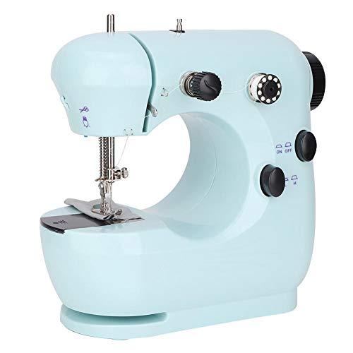Máquina de coser portátil, Máquina de coser eléctrica de sobremesa automática de doble velocidad ajustable con pedal y cortador,Perfecto para principiantes, hogar, viajes (2 colores)(2#)