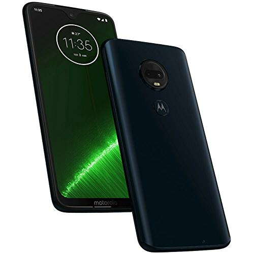 "Motorola Moto G7+ Plus (64GB, 4GB RAM) Dual SIM 6.2"" 4G LTE (GSM Only) Factory Unlocked Smartphone International Model XT1965-2 (Deep Indigo)"