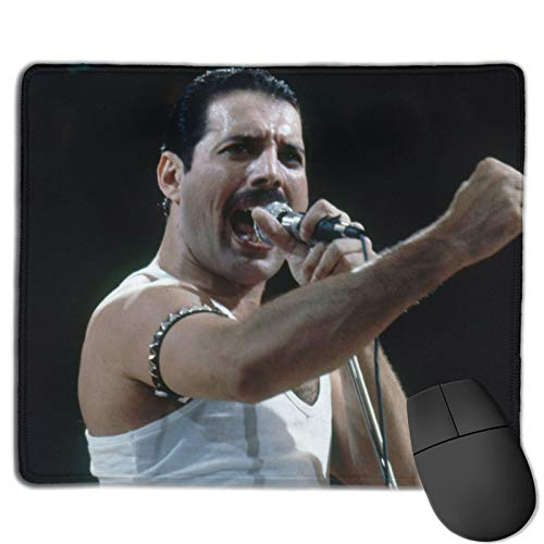 GMDVS Fre-ddie Mer-cury Mouse pad Non-Slip Rubber Mouse pad Gaming Mouse pad 11.8 x 9.8英寸