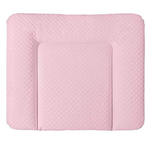 Wickelauflage im stilvollen CARO-Premium Design 85 x 72 cm | Ökotex zertifiziert Wickelunterlage Wickeltischauflage Farbe Pink
