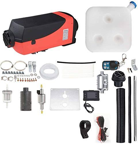 Air Diesel Heater Parkheizung,12V 5KW Mit LCD-Schalter Fernbedienung Schalldämpfer Für Wohnmobile Boote Bus Wohnwagen Und Mehr Verstärkt-rot