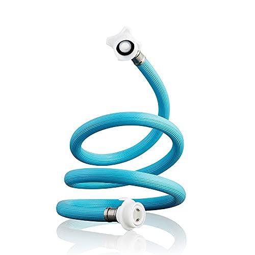 ALYHYB Manguera de la Lavadora 1.5m, Lavadora Universal Tubo de Entrada de llenado de Agua fría, Llave de conexión: Hebilla de 4 Puntos (G1 / 2), Lavadora de conexión: Interfaz de 6 Puntos (25 mm)