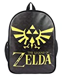 WANHONGYUE The Legend of Zelda Gioco Stampa di Immagini Borsa da Scuola Studente Zaino Backpack Rucksack Zaini Sacchetto Nero 1