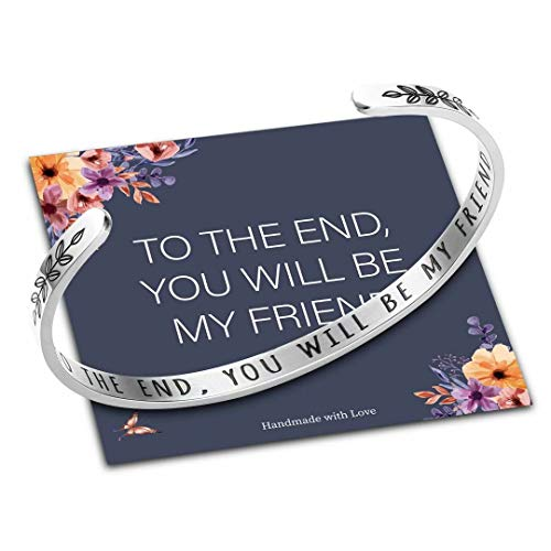 M MOOHAM Friendship Gifts for Best Friend Women, to The End You Will be My Friend Bracelet Jewelry Gifts for Friends Birthday