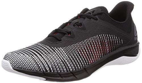 Reebok Fast Tempo FLEXWEAVE, Zapatillas de Trail Running para Hombre, Multicolor (Black/White/Neon Red 000), 40.5 EU