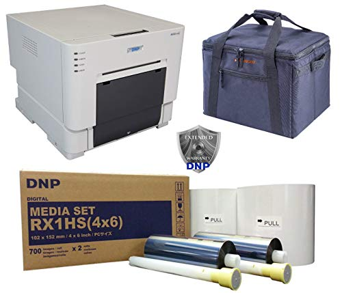 DNP RX1 Compact Pro Photo Booth + Portrait Printer Bundle w/Carrying case + More