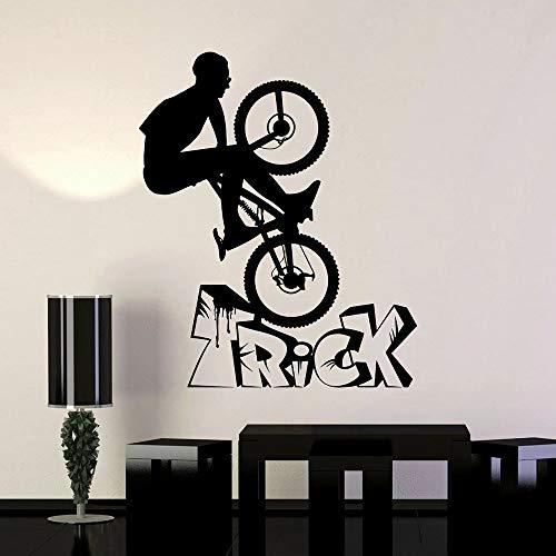 HGFDHG Pegatina de Pared para Bicicleta Deportiva, Rueda de Bicicleta de Vinilo para Deportes Extremos, decoración para Bicicleta