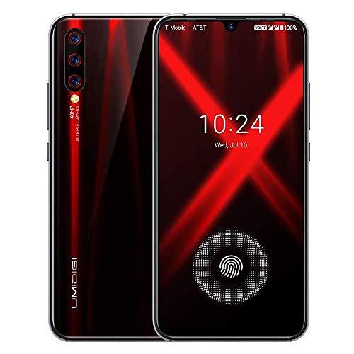 UMIDIGI X Smartphone ohne vertrag günstig mit Fingerabdrucksensor im Bildschirm, NFC, 4150mAh Akku, 128GB Speicher, 6.35'' AMOLED Full Screen, 48MP Ultra Wide AI Triple Kamera - Flame Black