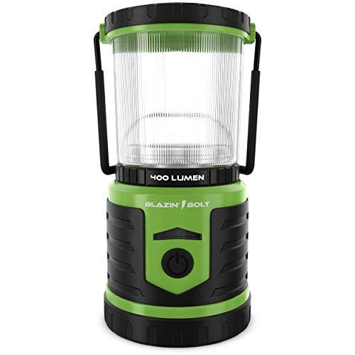 Blazin' Bison LED Laterne Wiederaufladbare | 400 Lumen | Hurricane, Blackout, Storm | Power Bank Taschenlampe | 400 Stunden Laufzeit (Grün)