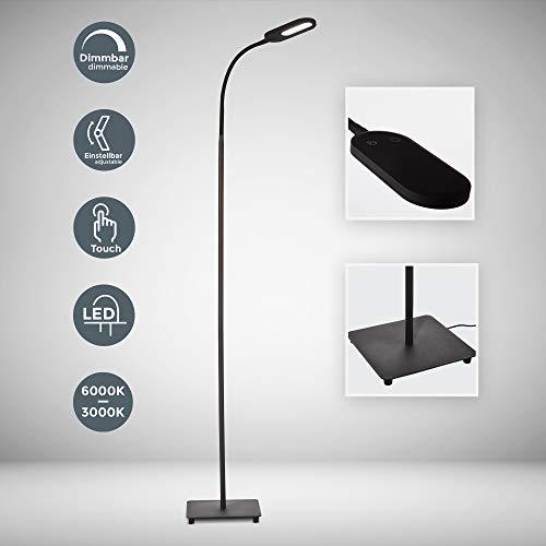 LED Stehlampe dimmbar I inkl. 8W 600lm LED Platine I Stehleuchte I 3000K - 6000K warmweiß - kaltweiß | memory & Touch Funktion