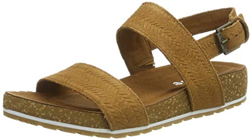 Timberland Malibu Waves 2 Band, Sandalias para Mujer, Marrón Rust Embossed Suede, 40 EU