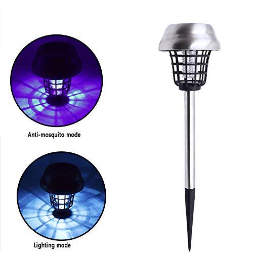 CCCYT Moskitoschutz Lampe, 2-In-1Insektenvernichter Elektrisch Fliegenfalle, IP65 Wasserdicht Mückenlampe Campinglampe Mückenvernichter Innen Außeneinsatz
