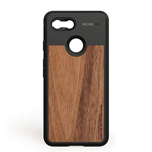 Moment Protective Pixel 3 Case - Durable Wrist Strap Friendly Case for Photography and Camera Lovers (Walnut Wood)