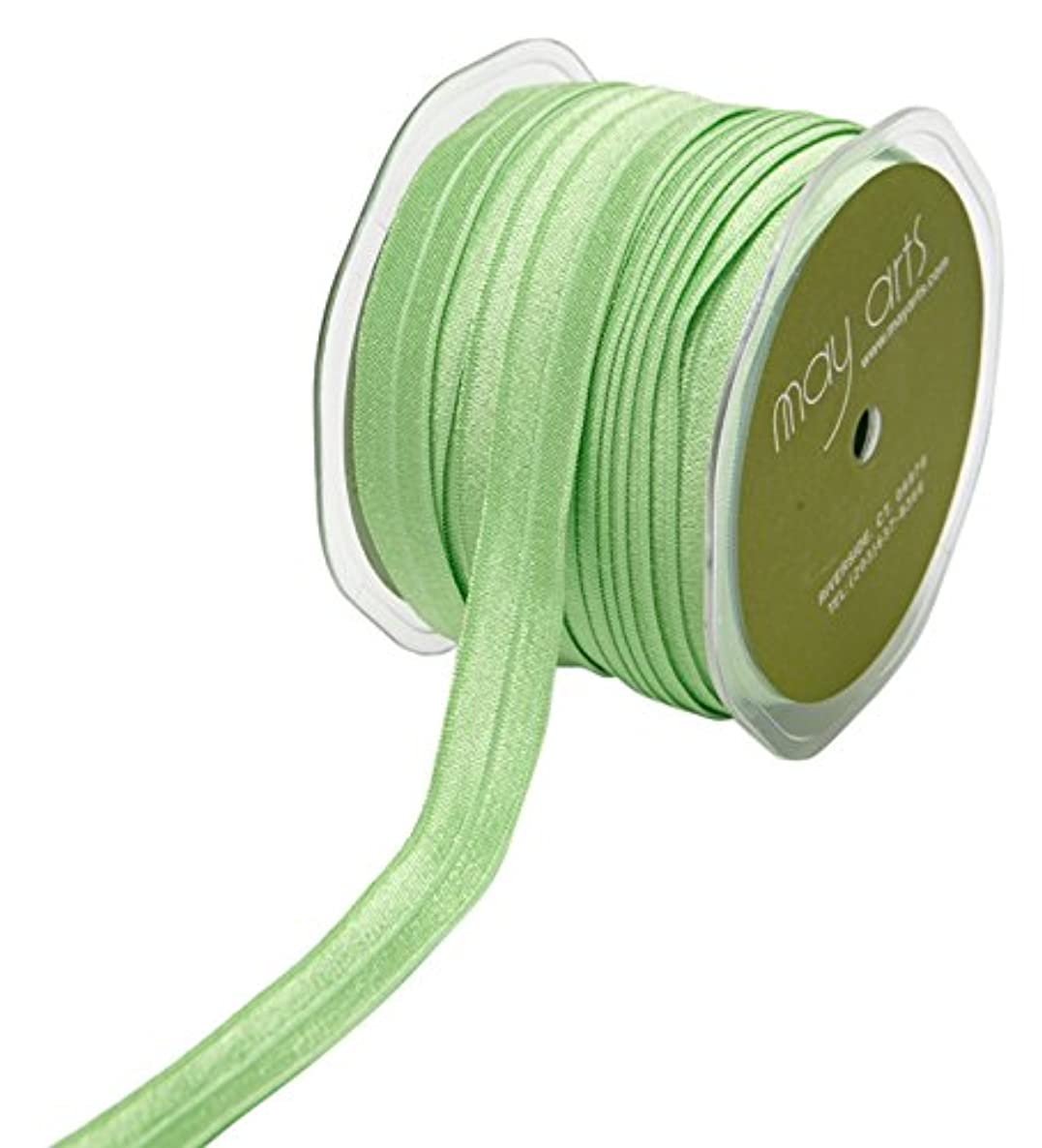May Arts Ribbon 5/8 Inch Elastic Ribbon 30 yd Green