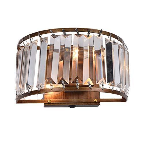 YXRPK Kristall Wandleuchte Moderne Stil, E27 Sockel Enthält Glühbirne (Neutrales Und Warmes Licht),Hochtemperatur-Backlack-Eisenprozess, AC110-240V,Neutrallight
