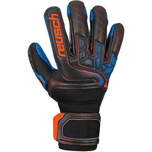 Reusch Herren Attrakt G3 Fusion Evolution Nc Ortho-tec Guardian Torwarthandschuhe, Black/Shocking orange/deep Blue, 12