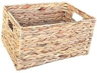 Small Water Hyacinth Rectangular Storage Basket